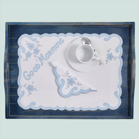Leron Linens Good Morning Breakfast Tray Set