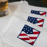 Leron Linens Old Glory Cocktail Napkins 2