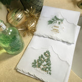 Leron Linens Tree And Ornament Guest Towels