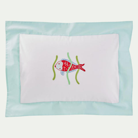 Leron Linens Tropical Fish Red