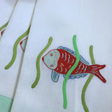 Leron Linens Tropical Fish Guest Towels Red