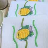 Leron Linens Tropical Fish Guest Towels Yellow