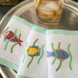 Leron Linens Tropical Fish Cocktail Napkins