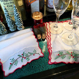 Leron Linens Holly Branch Cocktail Napkins
