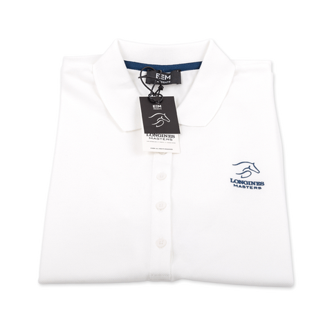 Polo-shirt - Longines Masters Originals - Woman/White