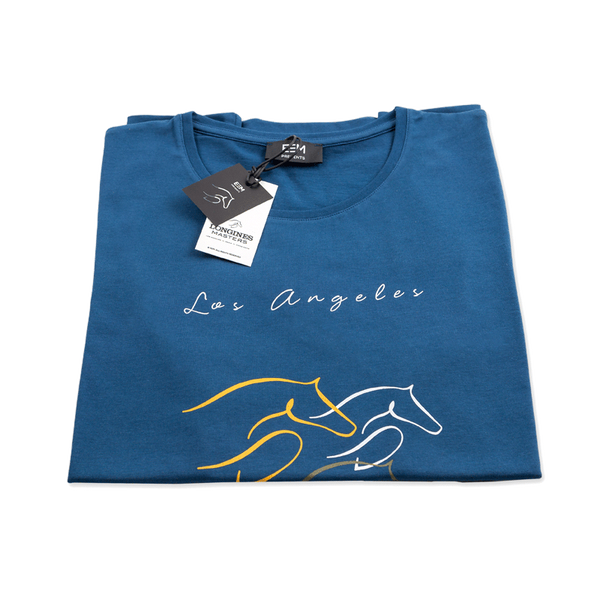 T-shirt - Longines Masters of Los Angeles 2015 - Man/Blue