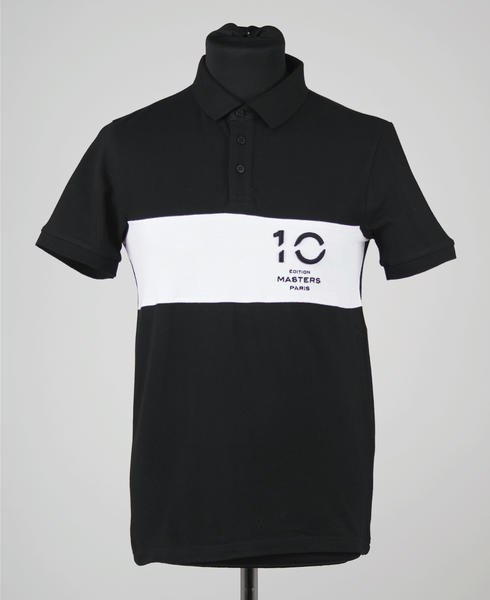 Polo shirt 10th edition Masters Paris Men/black&white