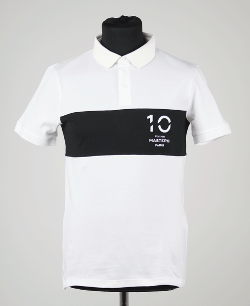 Polo shirt 10th edition Masters Paris Men/white&black