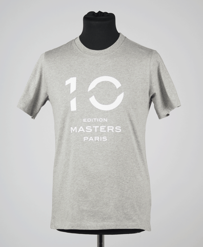 T-shirt 10th Edition of Paris Masters Man/Grey