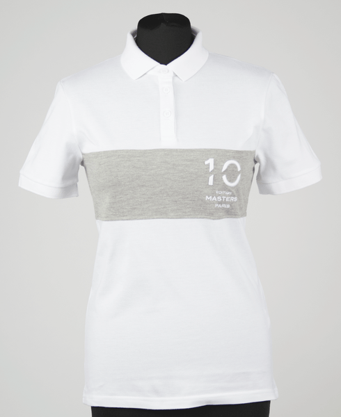 Polo shirt 10th edition Masters Paris Women/white&grey