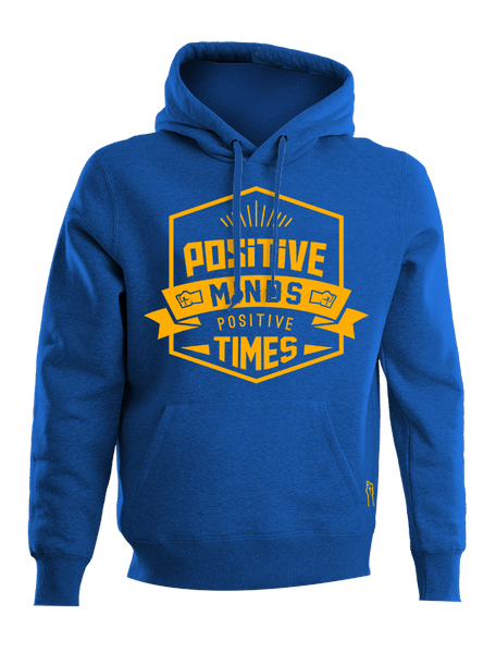 AUTHENTIC HOODIE POSITIVE MINDS-POSITIVE TIMES