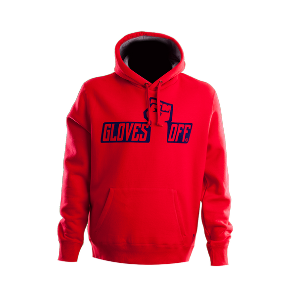 CHUNKY HOODIE RED & NAVY