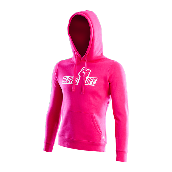 WOMEN'S AUTHENTIC HOODIE PINK & WHITE