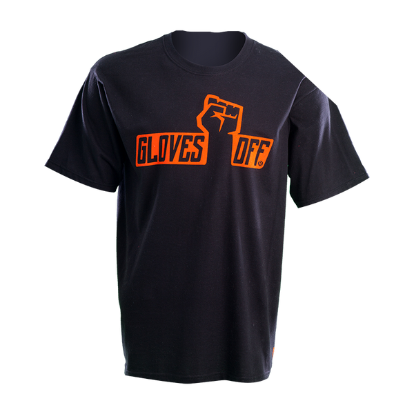 ADULT T-SHIRT BLACK & ORANGE