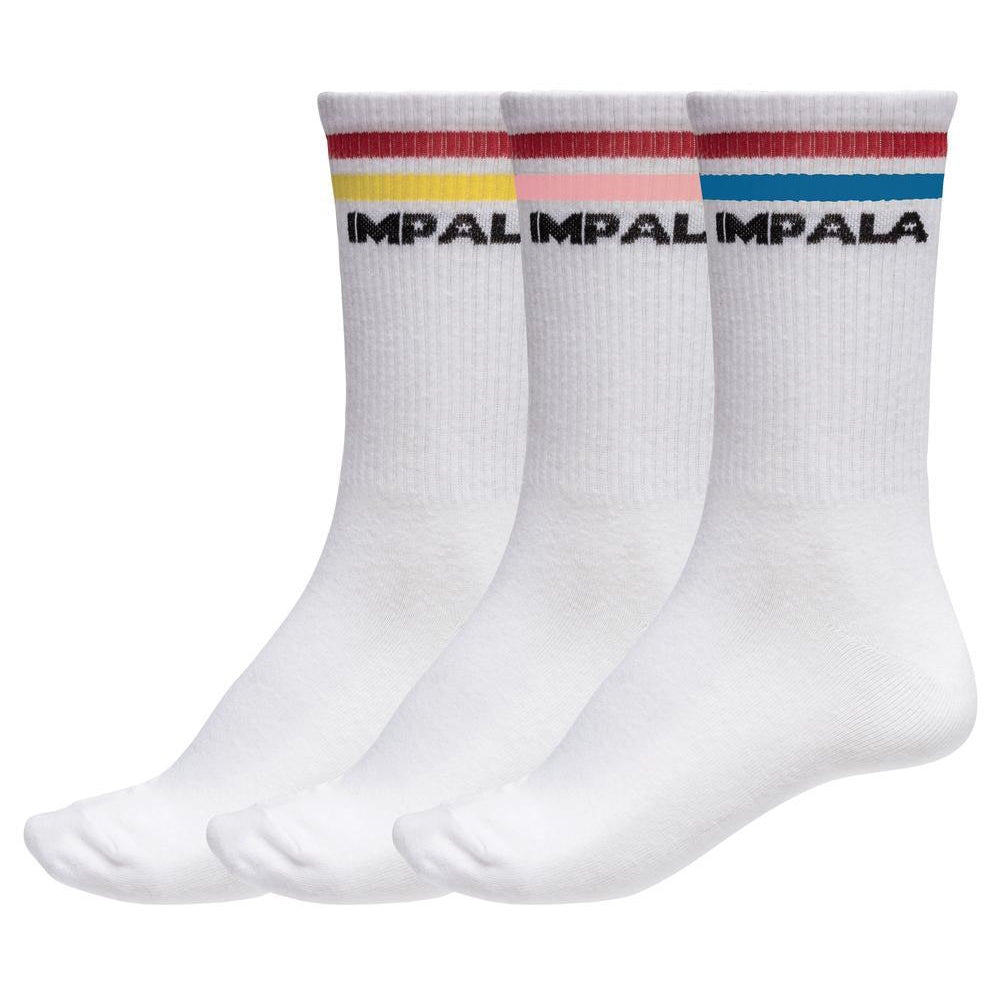 Impala Stripe Socks 3 Pack - Multi Coloured