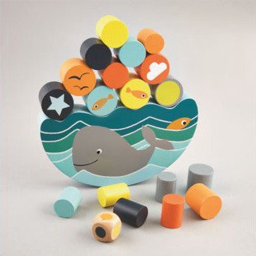 Floss & Rock Balancing Game - Whale