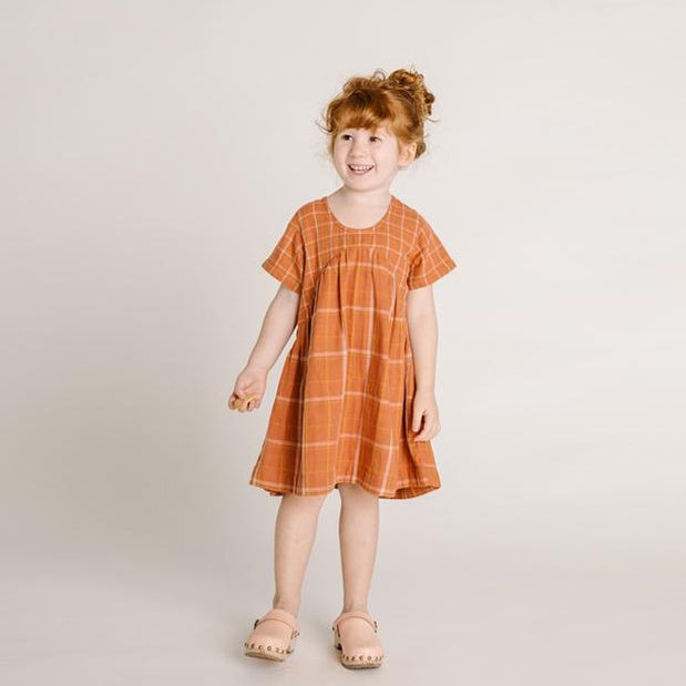 Olli Ella Clover Dress - Rust Check