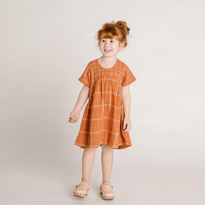 Olii Ella Clover Dress - Rust Check