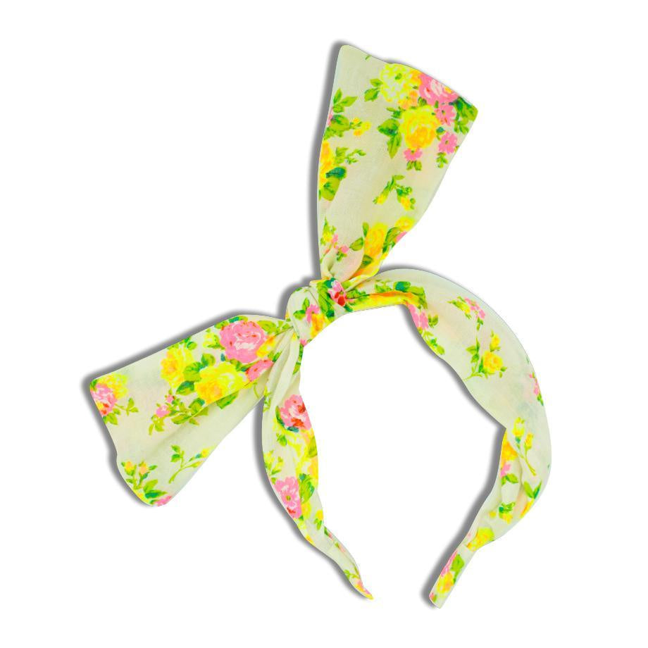 Minista Gigi Floral Headband - Yellow