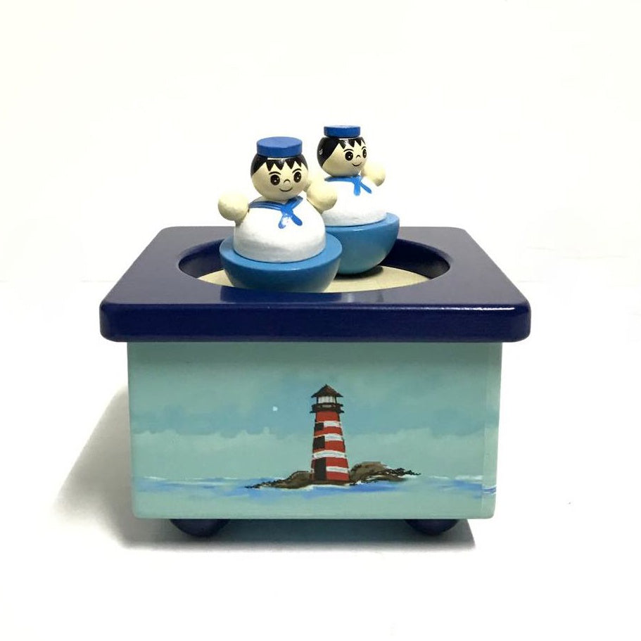Wooden Magnetic Music Box - Sailors