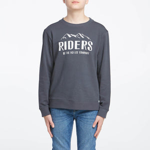 Riders By Lee Kids Teen The Crew Sweat - Graphite