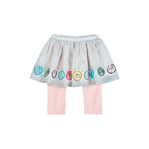 Little Wings Leggings w/Skirt - Bunny Cameo