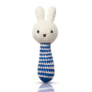 Just Dutch Miffy Handmade Rattle - Blue