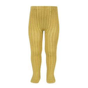 Condor Ribbed Tights - Mustard