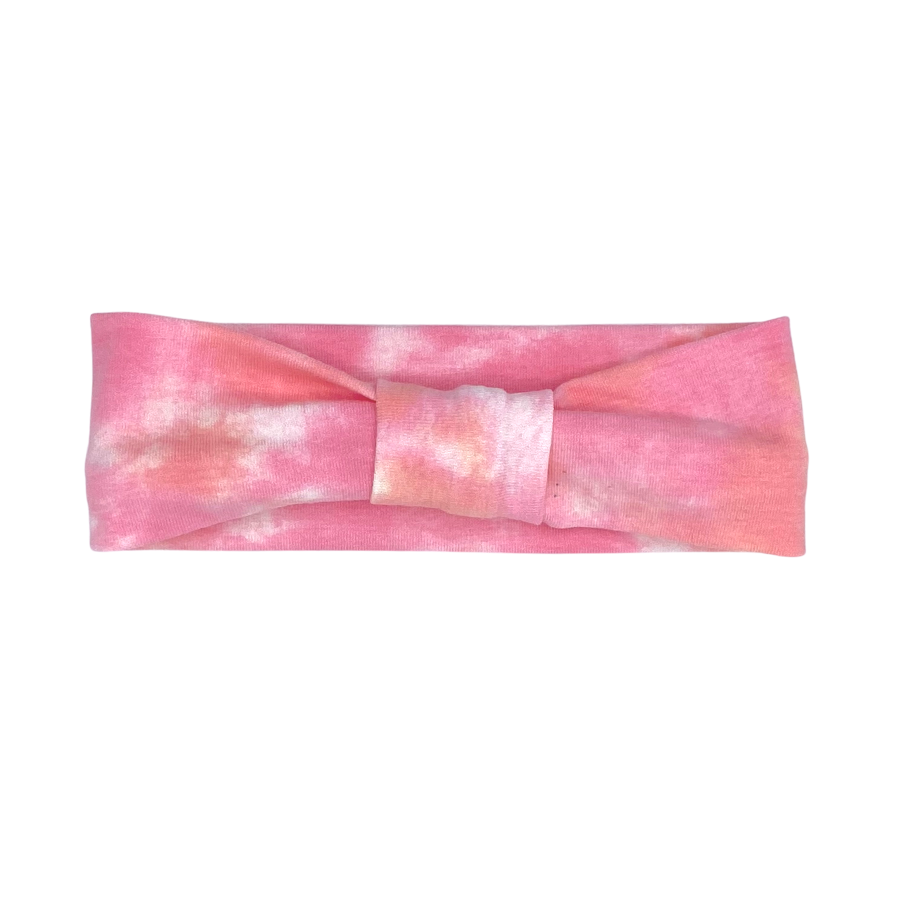 Daisy Kids Label Head Band - Pink Tie Dye