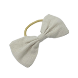 Daisy Kids Label Big Bow Hair Elastic - Natural Linen