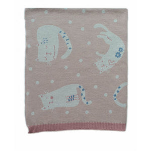 Indus Baby Blanket - Cats At Play