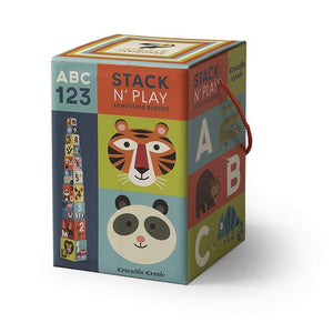 Crocodile Creek Nesting Blocks ABC 123 - Jungle Jamboree
