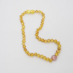 Summer & Storm Strength Amber + Cherry Quartz Necklace