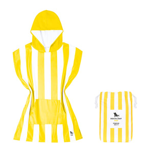 Dock & Bay 100% Recycled Poncho Mini Cabana Collection - Boracay Yellow