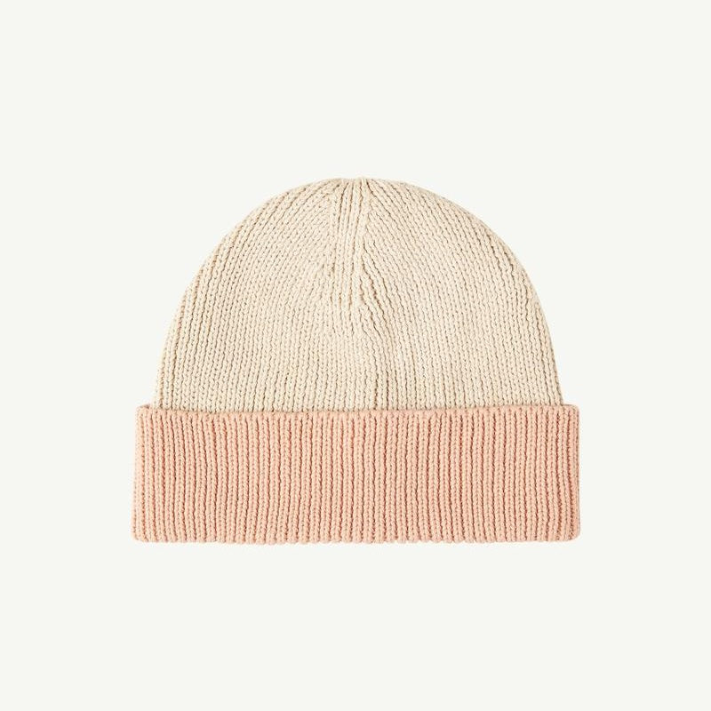 Summer & Storm Cotton Beanie - Natural/Coral