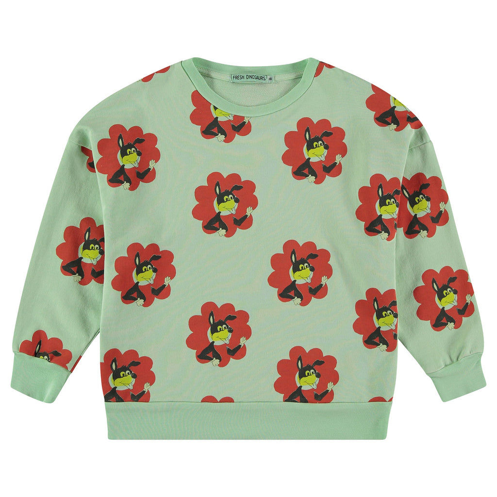 Fresh Dinosaurs Flower Power Sweatshirt