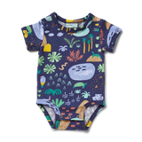 Halcyon Nights Beach Forest Short Sleeve Bodysuit