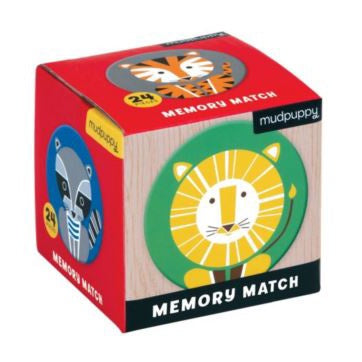 Mudpuppy Mini Memory Match Game - Geo Animals