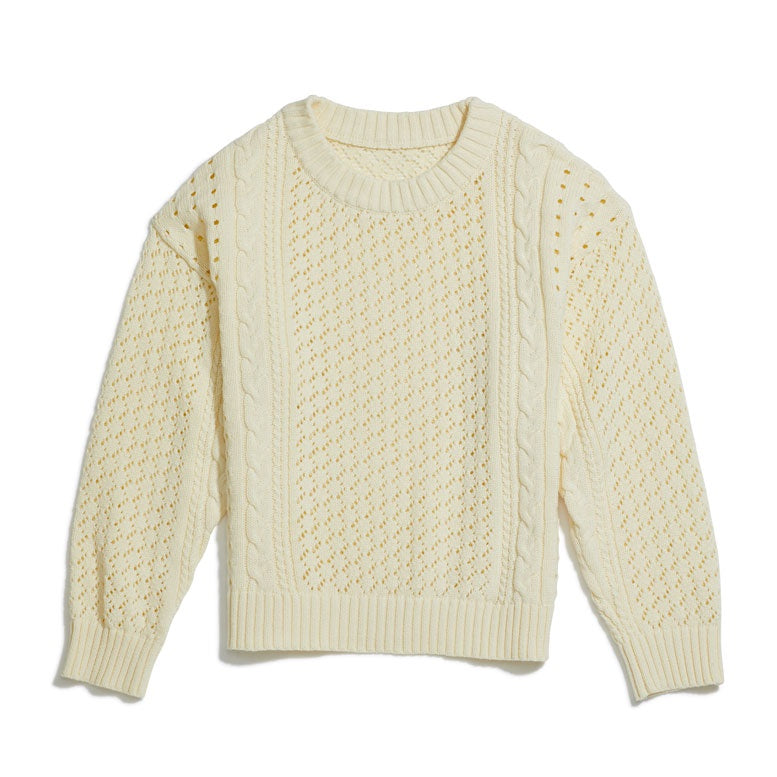 Yellow Jungle Botany Jumper Beige