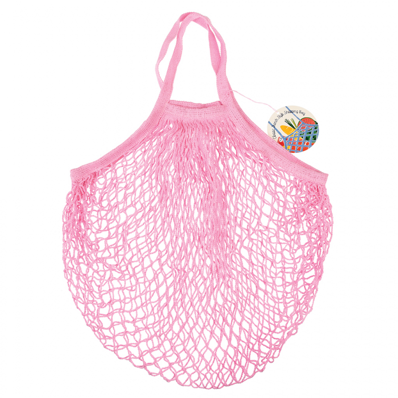 String Shopping Bag - Baby Pink