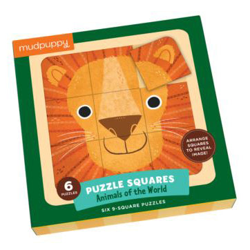 Mudpuppy Puzzle Squares - Animals of the World