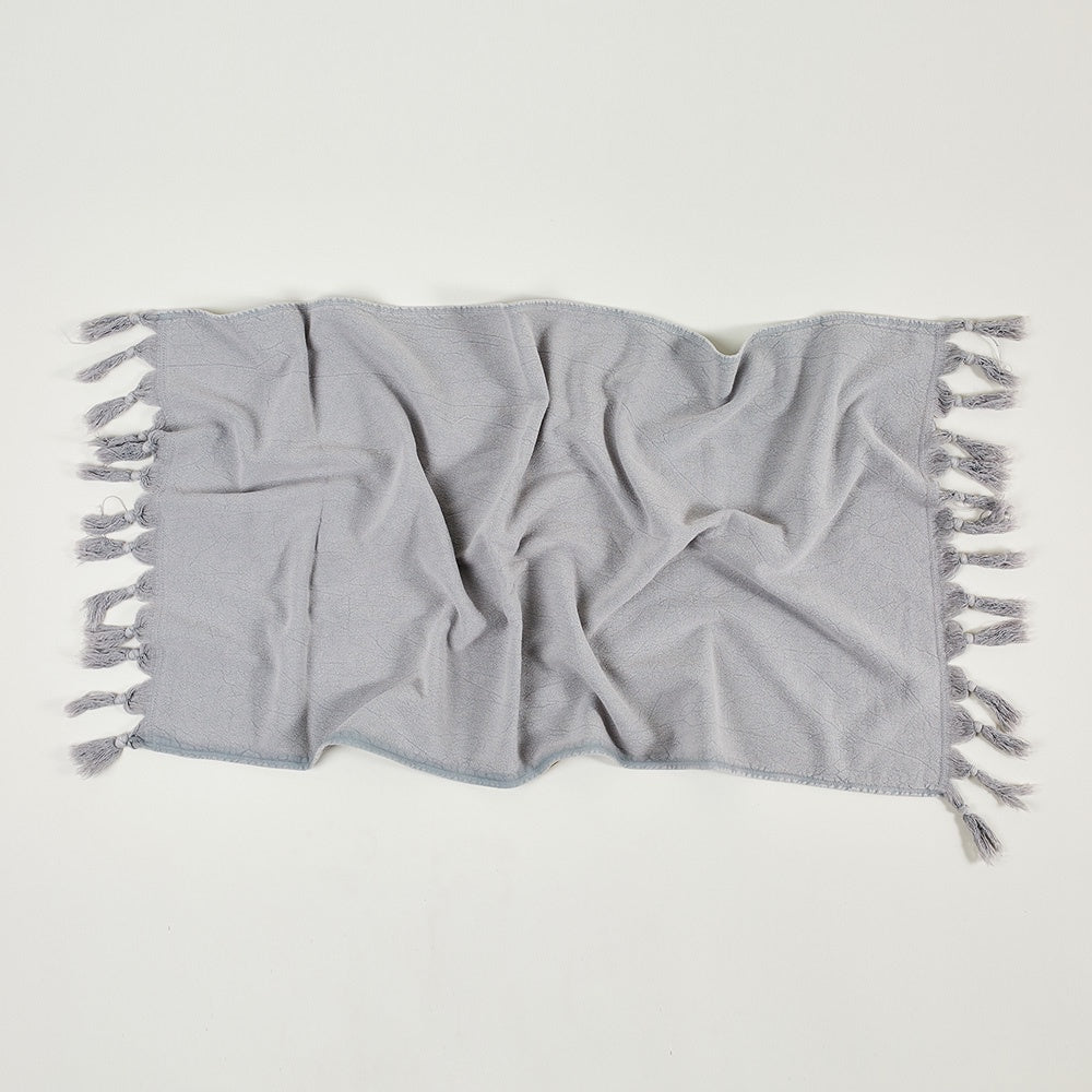 Saarde Vintage Wash Baby Towel - Pale Grey