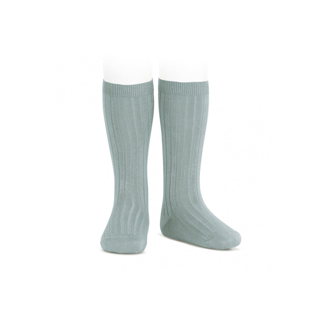 Condor Ribbed Knee High Socks - Dry Green