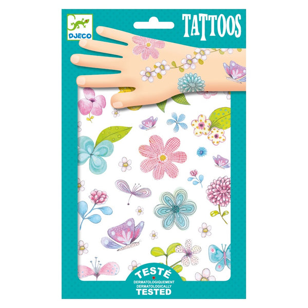 Djeco Fair Flowers Of The Field Tattoos