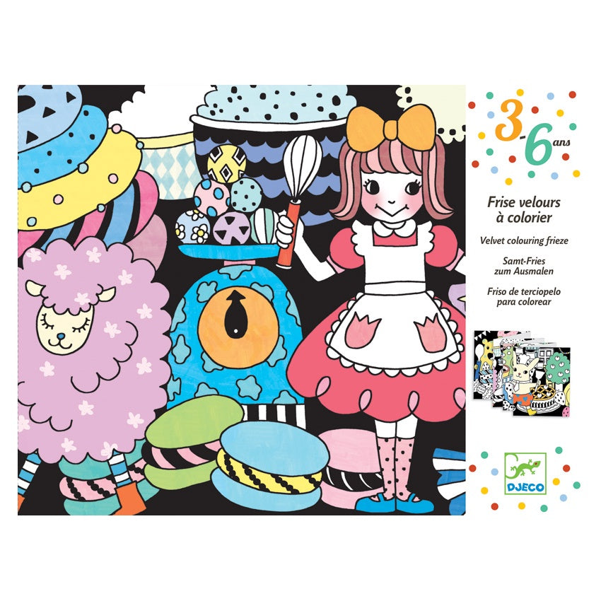 Djeco Sweet Parade Velvet Colouring