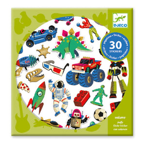 Djeco 30pc Retro Toys Stickers