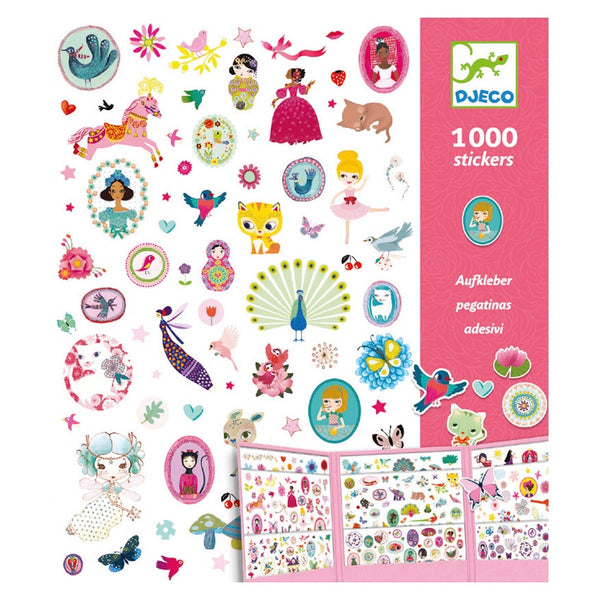 Djeco 1000 Pink Stickers