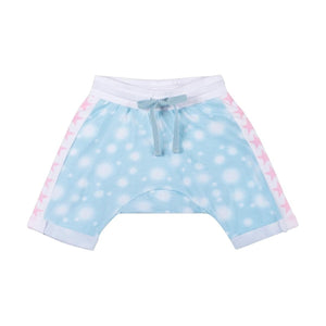 Little Wings Cuff Trackies- Blurry Spot Blue
