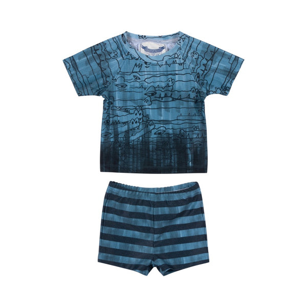 Little Wings Short Sleeve Rashie Set - In The Deep