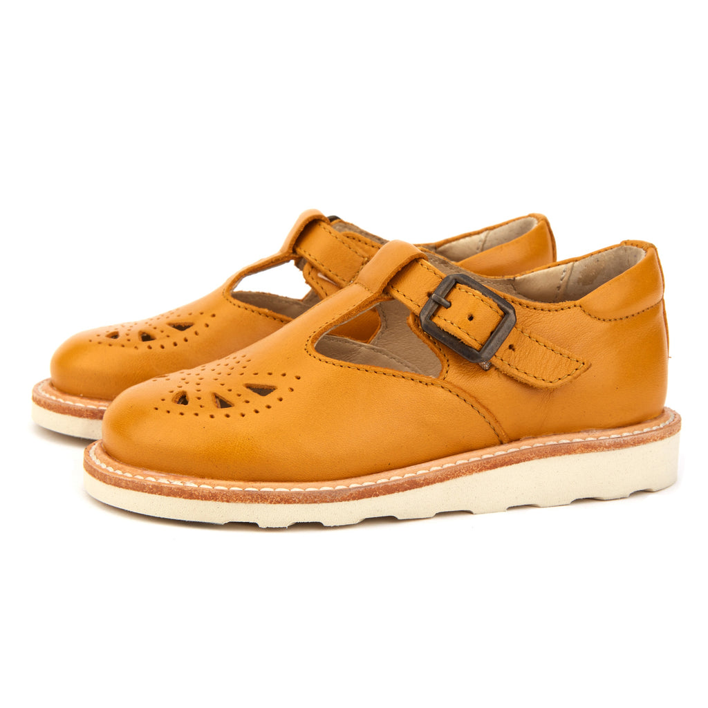 Young Soles Rosie T-Bar Shoe - Mustard